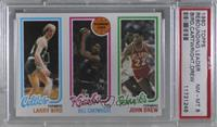 Larry Bird, Bill Cartwright, John Drew [PSA 8 NM‑MT]