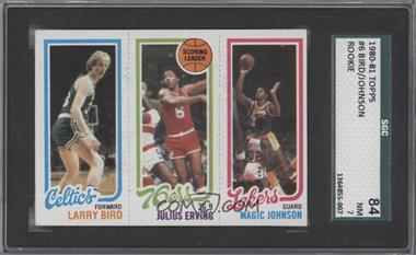 1980-81 Topps - [Base] #LBJEMJ - Larry Bird, Julius Erving, Magic Johnson [SGC 84 NM 7]
