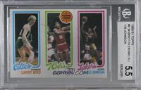 Larry Bird, Julius Erving, Magic Johnson [BGS 5.5 EXCELLENT+]
