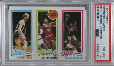 1980-81 Topps - [Base] #LBJEMJ - Larry Bird, Julius Erving, Magic Johnson [PSA4.5VG‑EX+]
