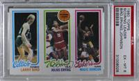 Larry Bird, Julius Erving, Magic Johnson [PSA 6 EX‑MT]
