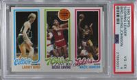 Larry Bird, Julius Erving, Magic Johnson [PSA 4 VG‑EX]
