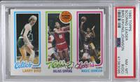 Larry Bird, Julius Erving, Magic Johnson [PSA 8 NM‑MT (OC)]