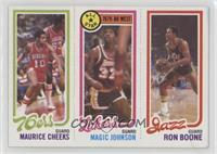 Maurice Cheeks, Magic Johnson, Ron Boone