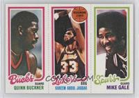 Quinn Buckner, Kareem Abdul-Jabbar, Mike Gale [Good to VG‑EX]
