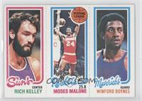 Rich Kelley, Moses Malone, Winford Boynes [Good to VG‑EX]