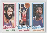 Rich Kelley, Moses Malone, Winford Boynes