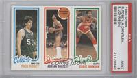 Rick Robey, Adrian Dantley, Eddie Johnson [PSA 9]
