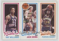 Ray Williams, Jack Sikma, Purvis Short