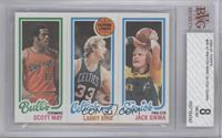 Scott May, Larry Bird, Jack Sikma [BVG 8 NM‑MT]