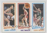 Sonny Parker, Dave Twardzik, Cedric Maxwell [GoodtoVG‑EX]