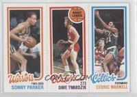 Sonny Parker, Dave Twardzik, Cedric Maxwell