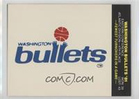 Washington Bullets Team