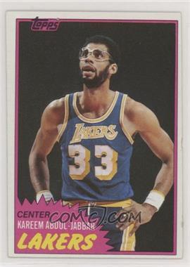 1981-82 Topps - [Base] #20 - Kareem Abdul-Jabbar - Courtesy of COMC.com