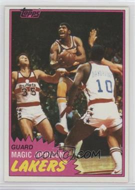 1981-82 Topps - [Base] #21 - Magic Johnson