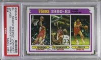 Team Leaders - Julius Erving, Bobby Jones, Maurice Cheeks [PSA10GEM…