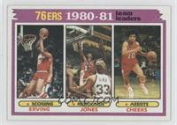 Team Leaders - Julius Erving, Bobby Jones, Maurice Cheeks