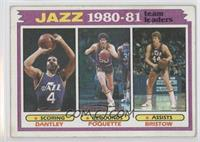 Utah Jazz Team, Adrian Dantley, Ben Poquette, Allan Bristow [Good to …