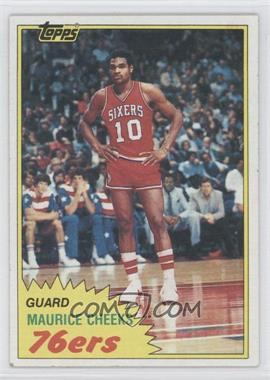 1981-82 Topps - [Base] #90E - Maurice Cheeks