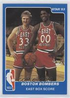 Larry Bird, Robert Parish (East Box Score) [EX to NM]
