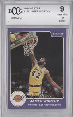 1984-85 Star - [Base] #184 - James Worthy [ENCASED]