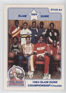 1984 Star - Slam Dunk Championship #1 - Checklist