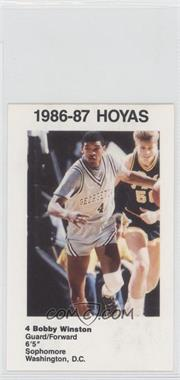 1986-87 Coca-Cola Georgetown Hoyas Kids & Cops Police - [Base] #14 - Bobby Winston