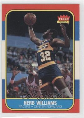 1986-87 Fleer - [Base] #125 - Herb Williams