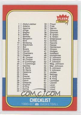 1986-87 Fleer - [Base] #132 - Checklist