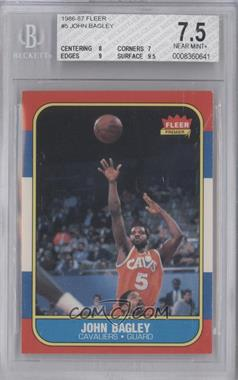 1986-87 Fleer - [Base] #5 - John Bagley [BGS 7.5 NEAR MINT+]