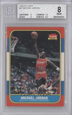 1986-87 Fleer - [Base] #57 - Michael Jordan [BGS 8]