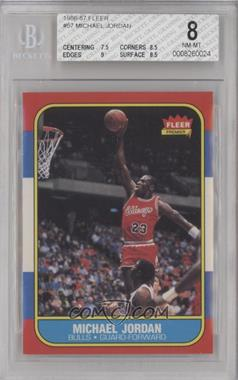 1986-87 Fleer - [Base] #57 - Michael Jordan [BGS 8 NM‑MT]