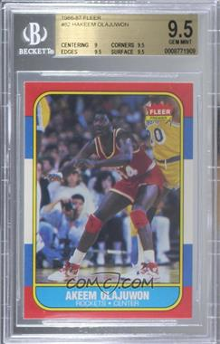 1986-87 Fleer - [Base] #82 - Akeem Olajuwon [BGS 9.5 GEM MINT]