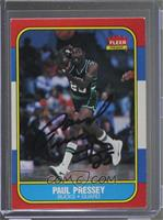 Paul Pressey [JSA Certified COA Sticker]