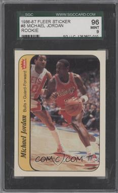 1986-87 Fleer - Stickers #8 - Michael Jordan [SGC 96]