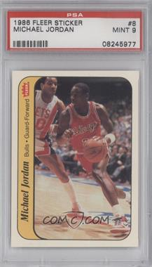 1986-87 Fleer - Stickers #8 - Michael Jordan [PSA 9]