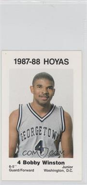 1987-88 Coca-Cola Georgetown Hoyas Kids & Cops Police - [Base] #16 - Bobby Winston