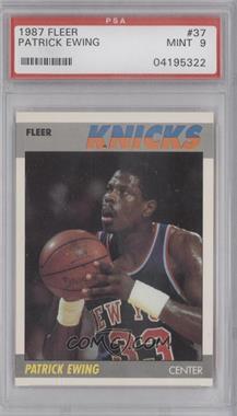 1987-88 Fleer - [Base] #37 - Patrick Ewing [PSA9]