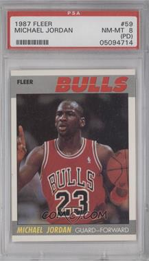 1987-88 Fleer - [Base] #59 - Michael Jordan [PSA 8 (PD)]