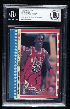 1987-88 Fleer - Stickers #2 - Michael Jordan [BAS Certified BGS Encased]
