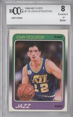 1988-89 Fleer - [Base] #115 - John Stockton [ENCASED]