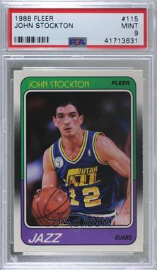 1988-89 Fleer - [Base] #115 - John Stockton [PSA9MINT]