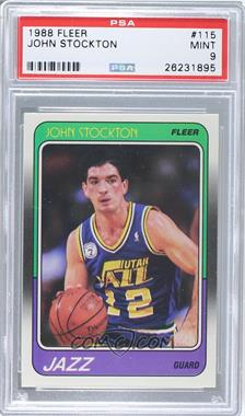 1988-89 Fleer - [Base] #115 - John Stockton [PSA 9]