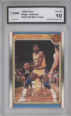 1988-89 Fleer - [Base] #123 - Magic Johnson [ENCASED]