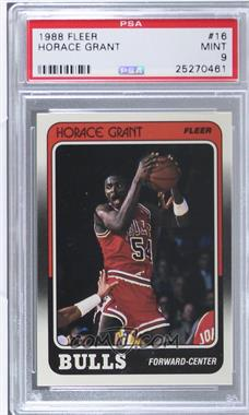 1988-89 Fleer - [Base] #16 - Horace Grant [PSA 9]