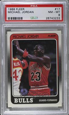 1988-89 Fleer - [Base] #17 - Michael Jordan [PSA8]