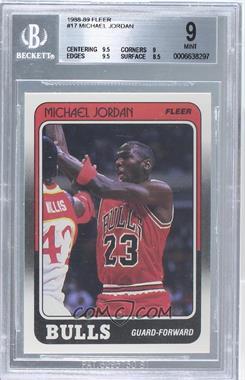 1988-89 Fleer - [Base] #17 - Michael Jordan [BGS9]