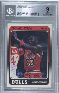 1988-89 Fleer - [Base] #17 - Michael Jordan [BGS 9]