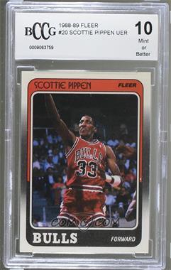 1988-89 Fleer - [Base] #20 - Scottie Pippen [ENCASED]