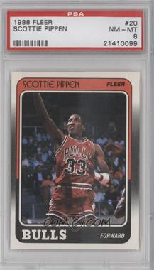 1988-89 Fleer - [Base] #20 - Scottie Pippen [PSA8]